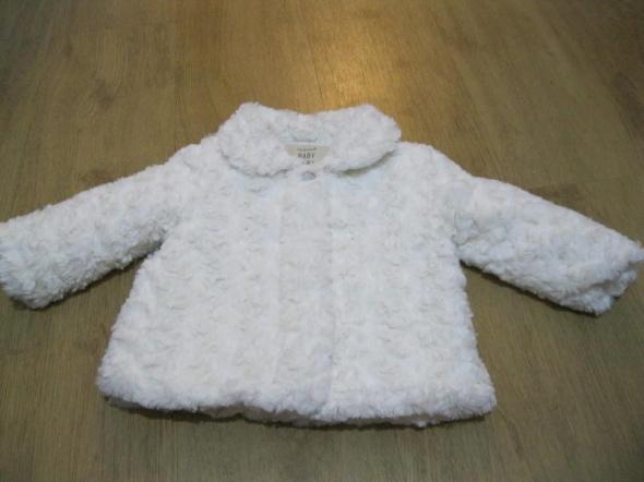płaszcz futerko BABY GIRL 80 śmietankowe