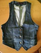 Kamizelka jeansowa niebieska granatowa rozmiar S...