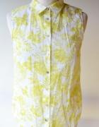 Koszula H&M Logg S 36 Liście Letnia Listki Paprotka...