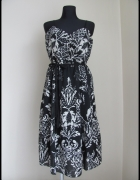 Czarno biała sukienka elegancka 42 XL Vero Moda...