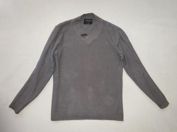 Swetry Reserved szary grafitowy sweter rozmiar M