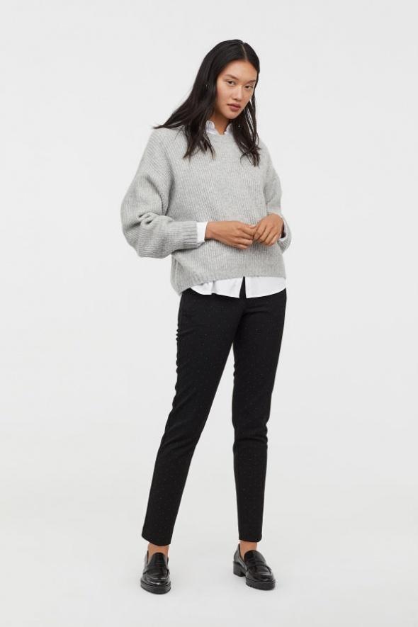 Spodnie Spodnie cygaretki w kropki h&m