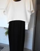 River Island sukienka dwukolorowa minimalizm...