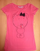 Różowy t shirt z misiem...