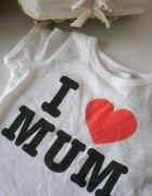 HM koszulka MUM love serce 62 nadruk...