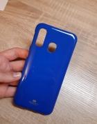 Etui case do telefonu niebieskie A40 silikonowe...