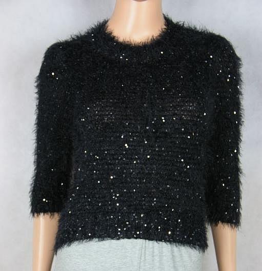 Swetry REPUBLIC krótki czarny sweterek roz 8 XS