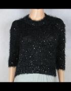 REPUBLIC krótki czarny sweterek roz 8 XS
