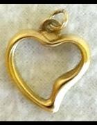 Heart Wisiorek Serce pozłacane 24k złotem