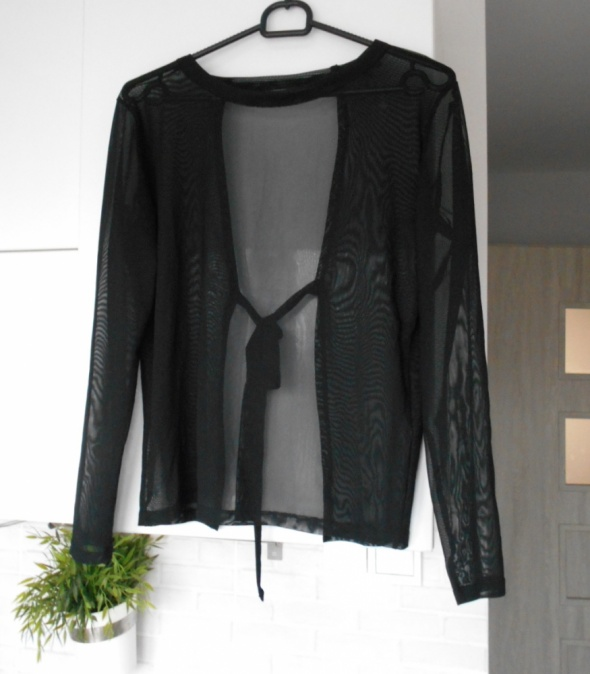 Bluzki River Island przezroczysta transparentna czarna bluzka odsłonięte plecy