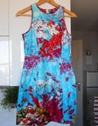 Atmosphere sukienka rybki print wesele...