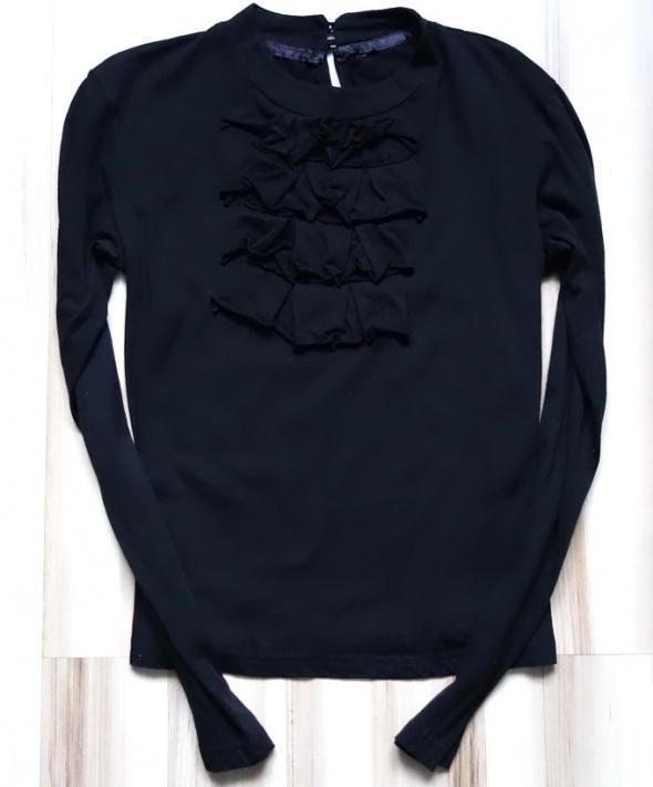 Carry bluzka z żabotem czarna Nowa