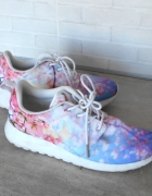 Nike Roshe Run adidasy cherry blossom floral kwiaty...
