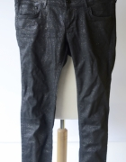 Spodnie Woskowane Brokatowe H&M Super Skinny 31 32 L 40...