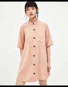 Zara koszulowa sukienka oversize...