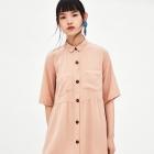 Zara koszulowa sukienka oversize