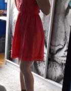Koralowa letnia sukienka F&F XS...