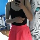 Neonowa różowa rozkloszowana spódniczka S szyta na miarę Neon Nowa