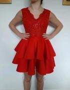 czerwona sukienka S...