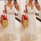 Piękna boho koronkowa maxi sukienka s m l xl
