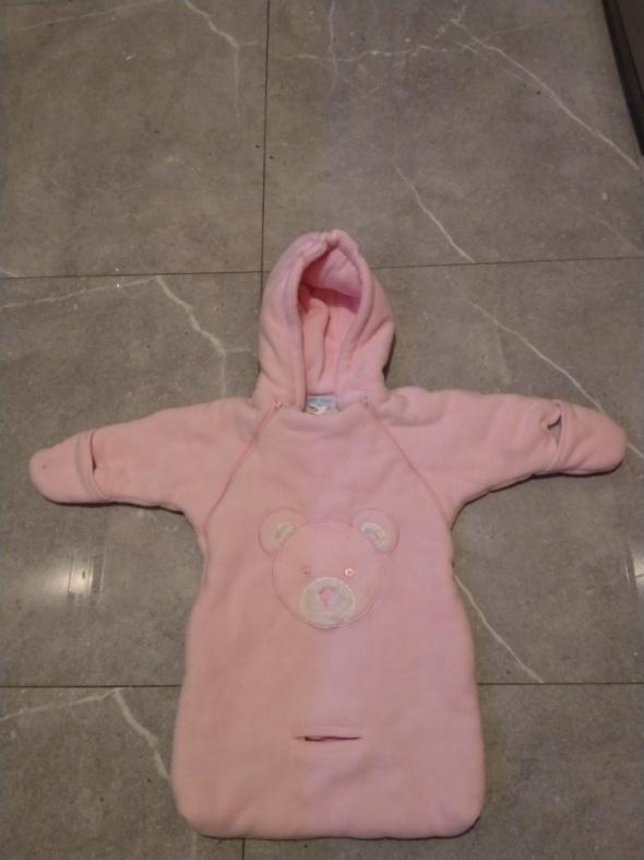 Różowy śpiwór Baby Dove 0 do 12 miesięcy