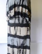 Sukienka Wzory Lindex XS 34 Dłuższa Long Falbanka Plamki...