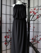 h&m czarna klasyczna sukienka długa elegancka NOWA...