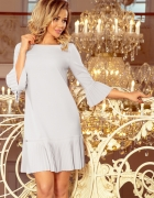 LUCY szara plisowana wygodna sukienka...