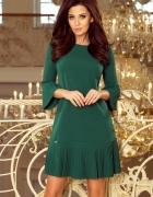 LUCY plisowana wygodna sukienka ZIELONA S M L XL XXL...