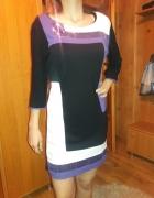 Sukienka czarno fioletowa z cekinami r 44 46...