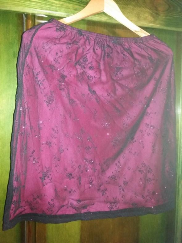 Spódnica czarno różowa r 44