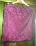 Spódnica czarno różowa r 44...