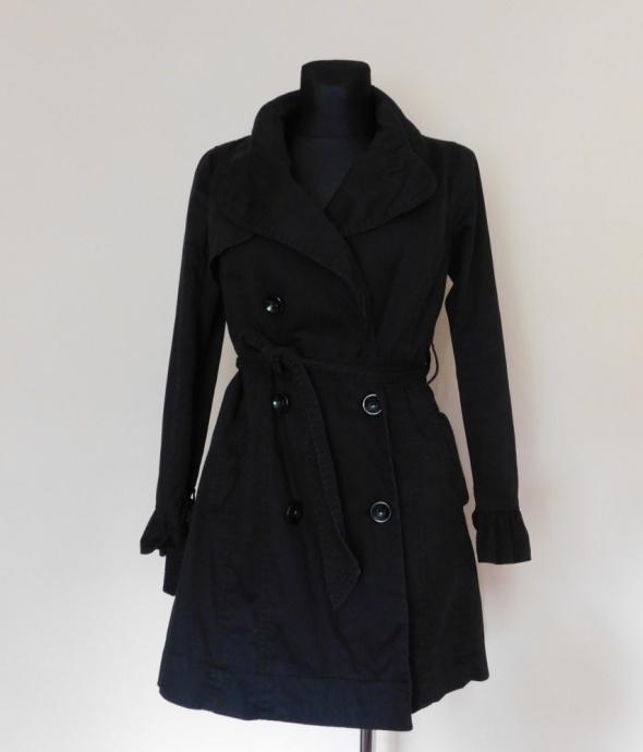 New Look czarny płaszcz trench 38...