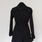 New Look czarny płaszcz trench 38