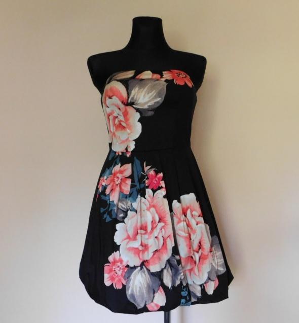 Oasis sukienka kwiaty czarna mini 36...