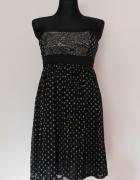 Monsoon sukienka czarna złota 38...