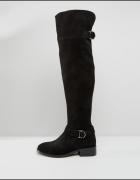 czarne kozaki muszkieterki za kolano 38