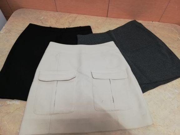Spódnice Trzy spódniczki HM i Reserved