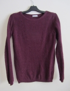 Sweter burgund basic...