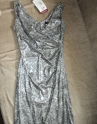 srebrna sukienka...