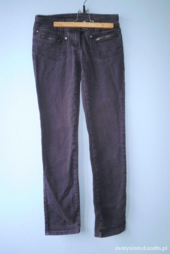 Dorothy Perkins śliwkowe fioletowe jeansy rurki...
