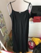 Czarna dluga lniana sukienka Atmosphere rozm 42...