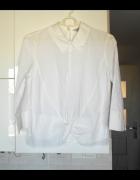 HM biała koszula z kołnierzykiem collar wiązanie...