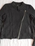 CALVIN KLEIN szary sweter o kroju ramoneski r L G z USA...