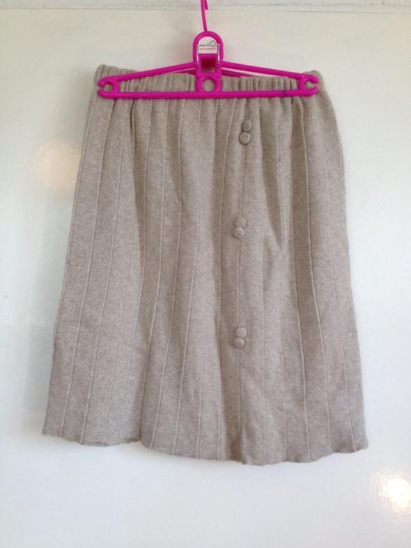 Spódnice Beżowa kremowa spódnica Midi 38 40 42 M L XL klasyczna vintage