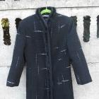 Zimowy Płaszcz 40 L wełniany długi czarny jak NOWY