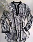 Elegancka bluzka Zara Basic wężowy wzór S M...