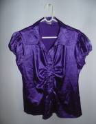 Koszula fioletowa błyszcząca SHE...