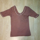 Brązowa bluzka