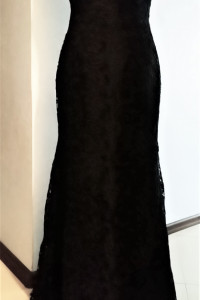Suknia wieczorowa dekolt Carmen koronka S...